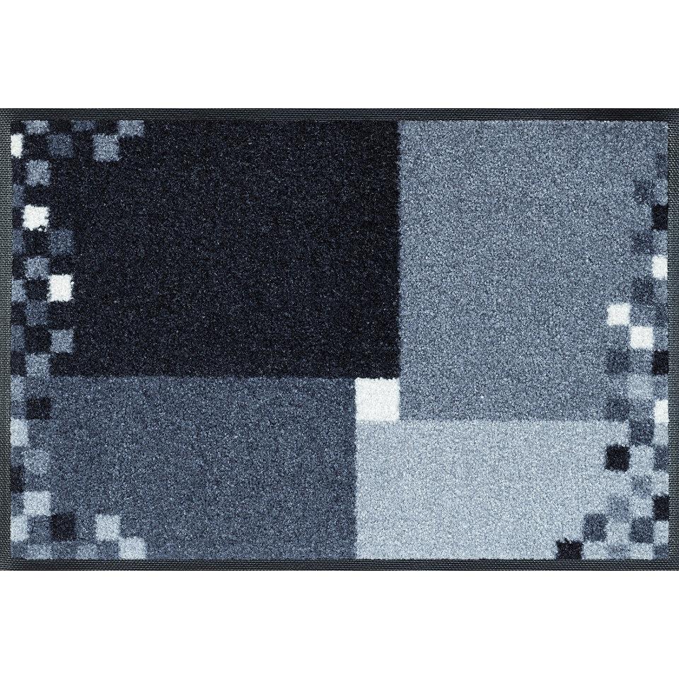 Fu�matte, wash+dry by Kleen-Tex, �Mosaico grau�, rutschhemmend beschichtet