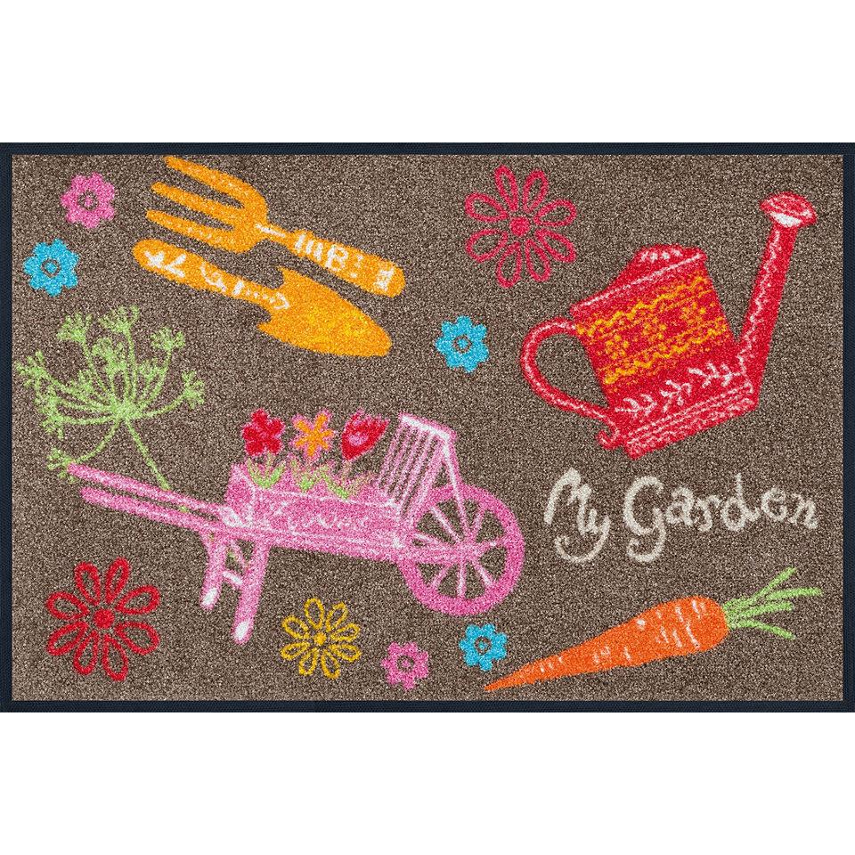 Fußmatte, wash+dry by Kleen-Tex, »My Garden«, rutschhemmend beschichtet