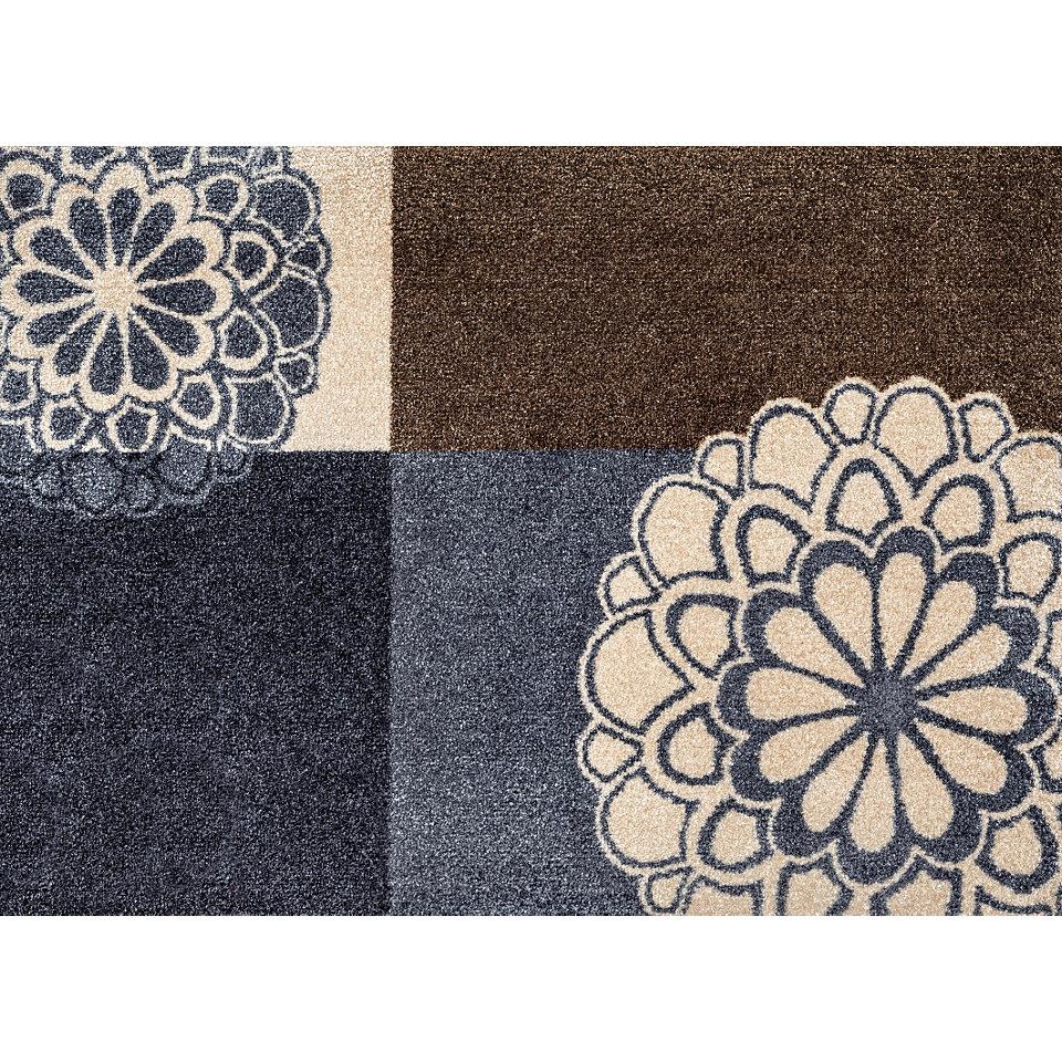 Fußmatte, wash+dry by Kleen-Tex, »Rondo grey«, rutschhemmend beschichtet