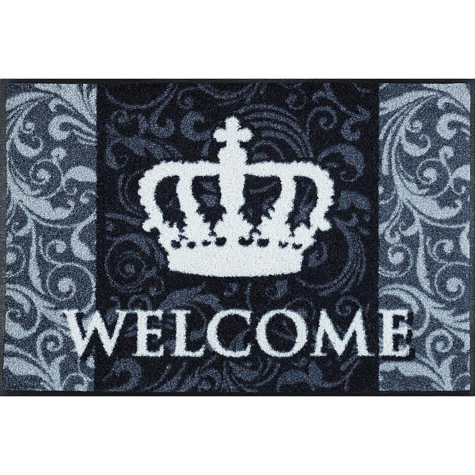 Fußmatte, wash+dry by Kleen-Tex, »Royal Welcome«, rutschhemmend beschichtet