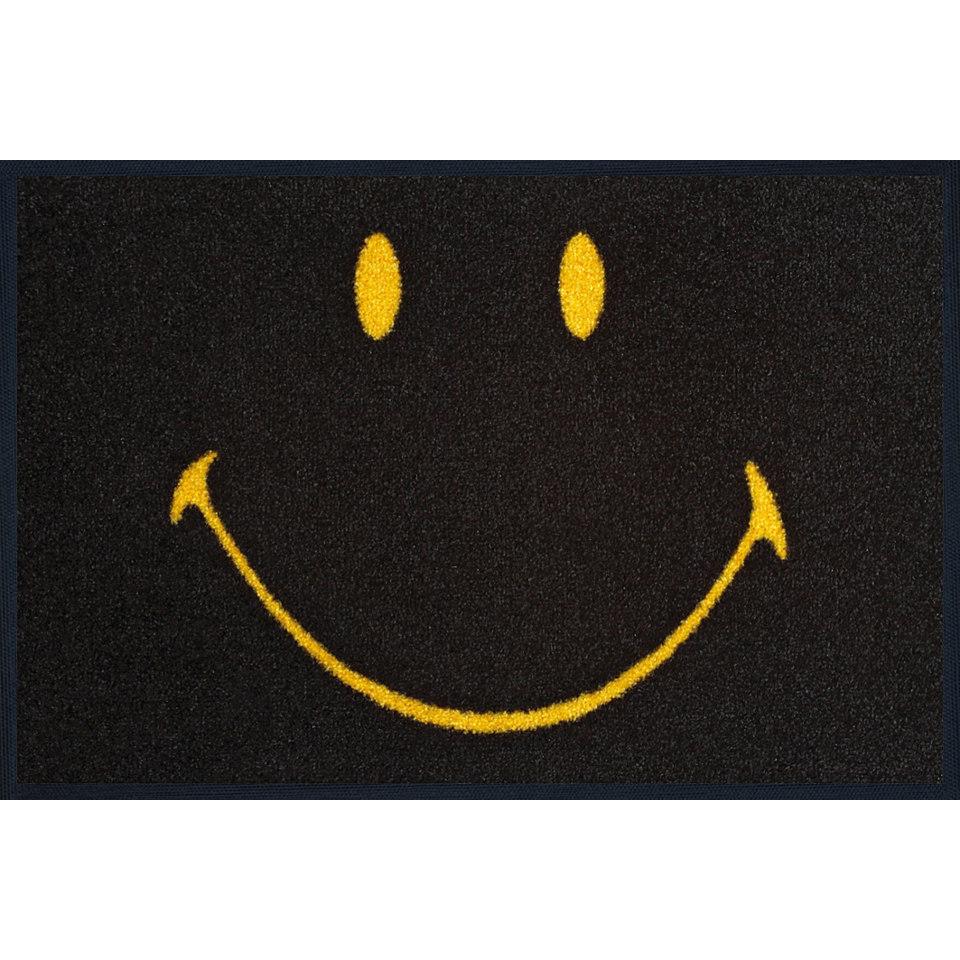 Fu�matte, wash+dry by Kleen-Tex, �Smiley Face positive�, rutschhemmend beschichtet