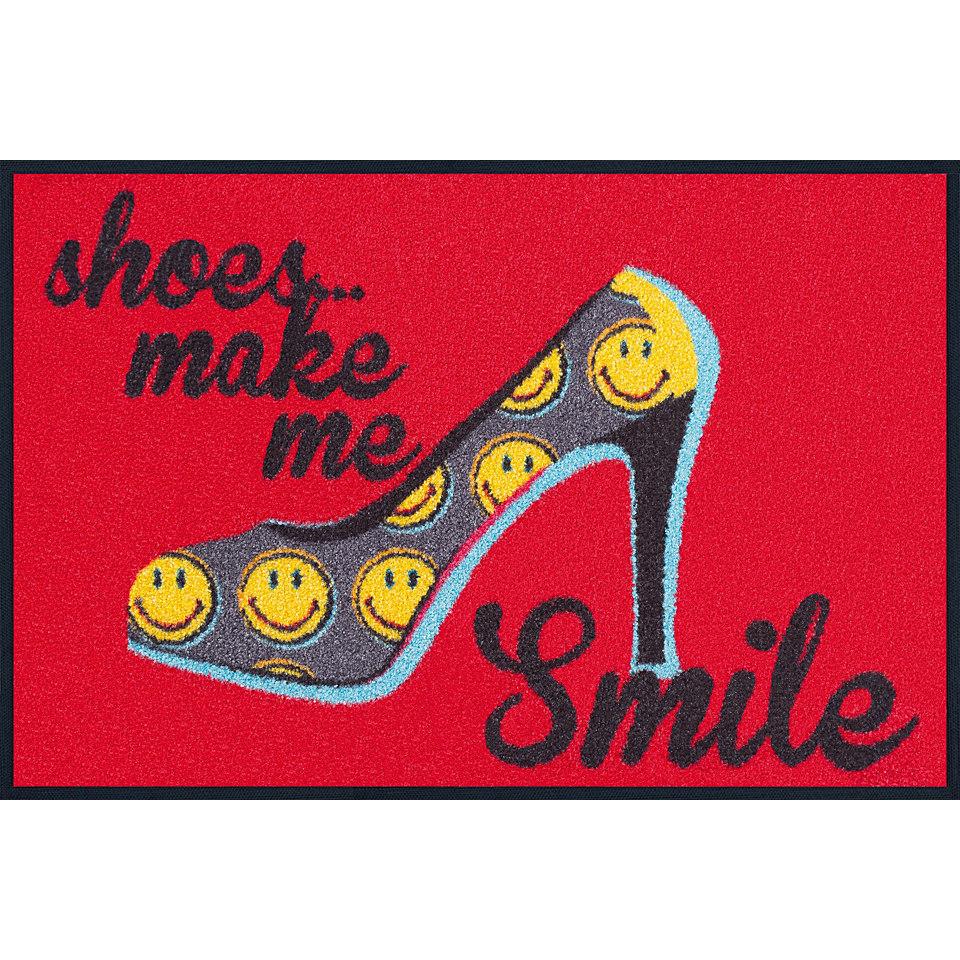 Fußmatte, wash+dry by Kleen-Tex, »Smiley Shoes Smile«, rutschhemmend beschichtet
