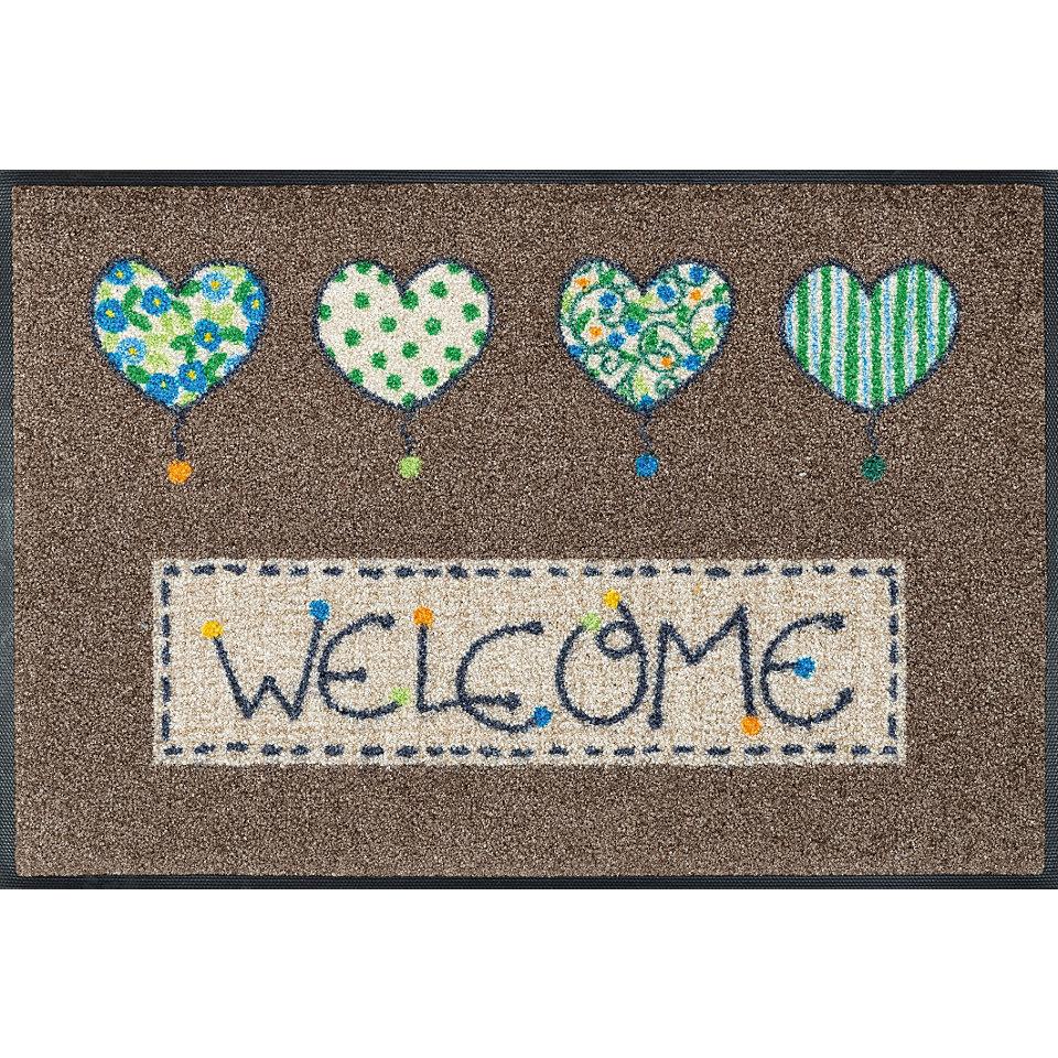 Fußmatte, wash+dry by Kleen-Tex, »Welcome Hearts«, rutschhemmend beschichtet
