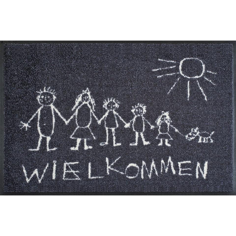 Fußmatte, wash+dry by Kleen-Tex, »Wielkommen«, rutschhemmend beschichtet