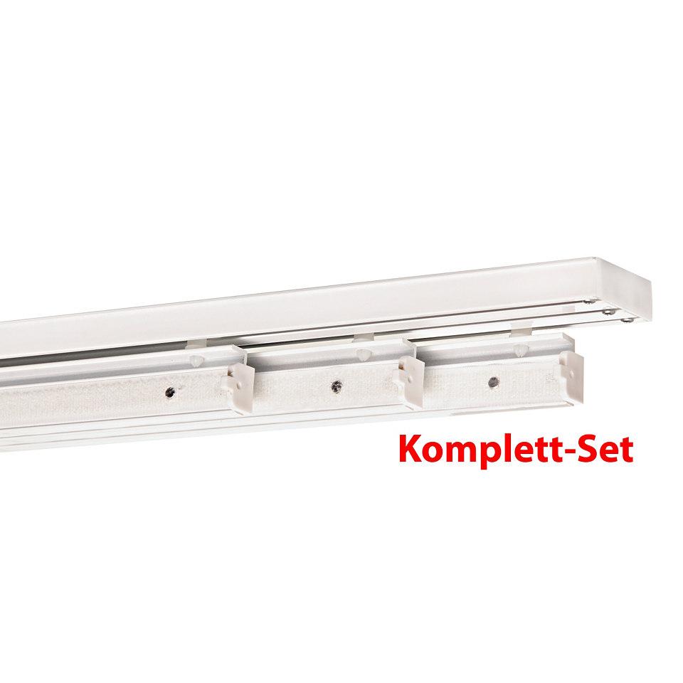 Gardinenschiene, indeko, Fixmaß, Komplett-Set