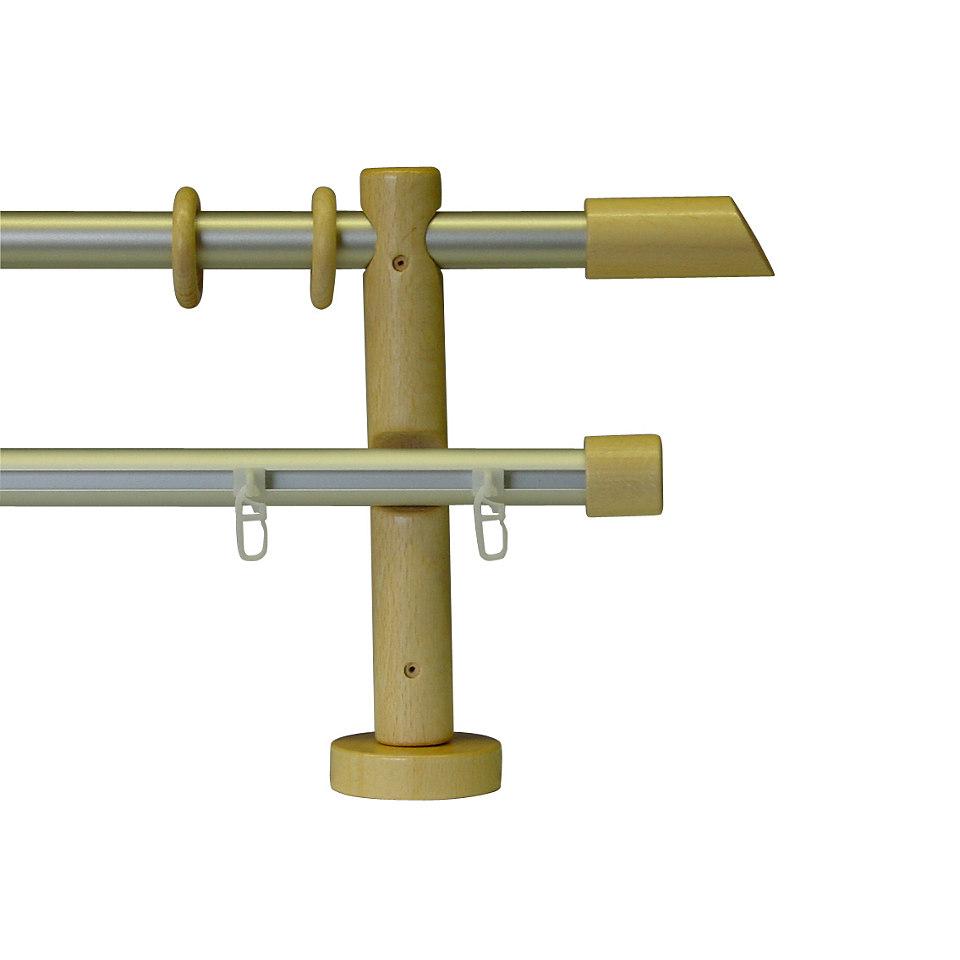 Gardinenstange, Garesa, »Classico Molis«, 2-läufig nach Maß ø 20 mm
