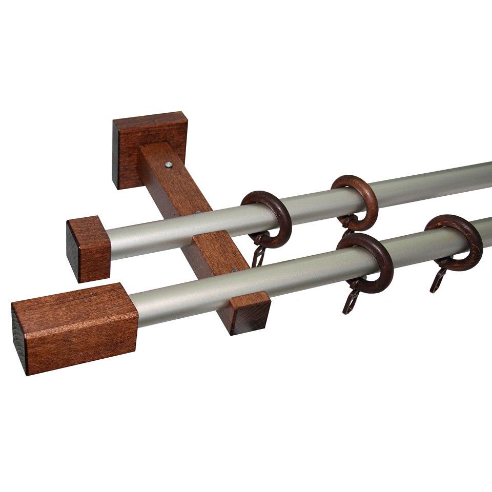 Gardinenstange, Garesa, »Cubus Quader«, nach Maß ø 20 mm