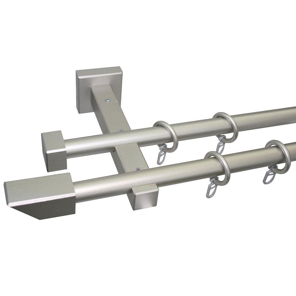Gardinenstange, Garesa, »Cubus Quadros«, nach Maß ø 20 mm