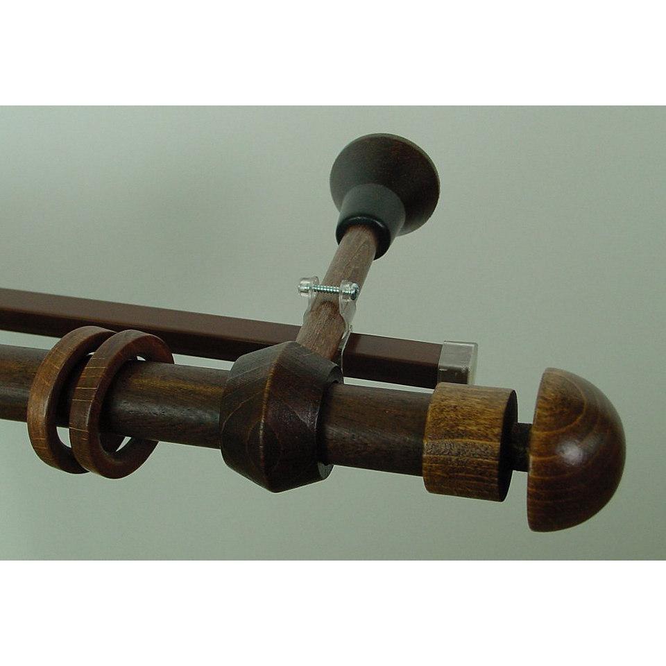 Gardinenstange, Garesa, »Konus Halbkugel«, 2-läufig nach Maß ø 28 mm