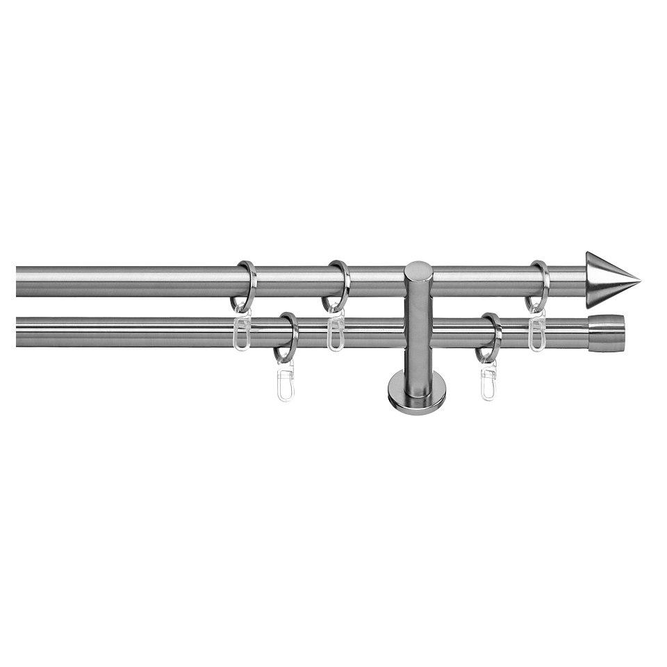 Gardinenstange, Indeko, �Brig�, 2-l�ufig, im Fixma�, � 20 mm