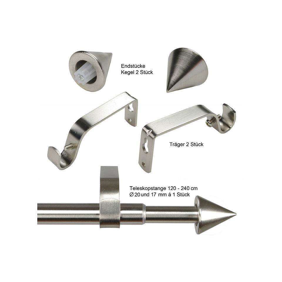 Gardinenstange, Liedeco, �Kegel � 20 mm�, ausziehbar, im Fixma�