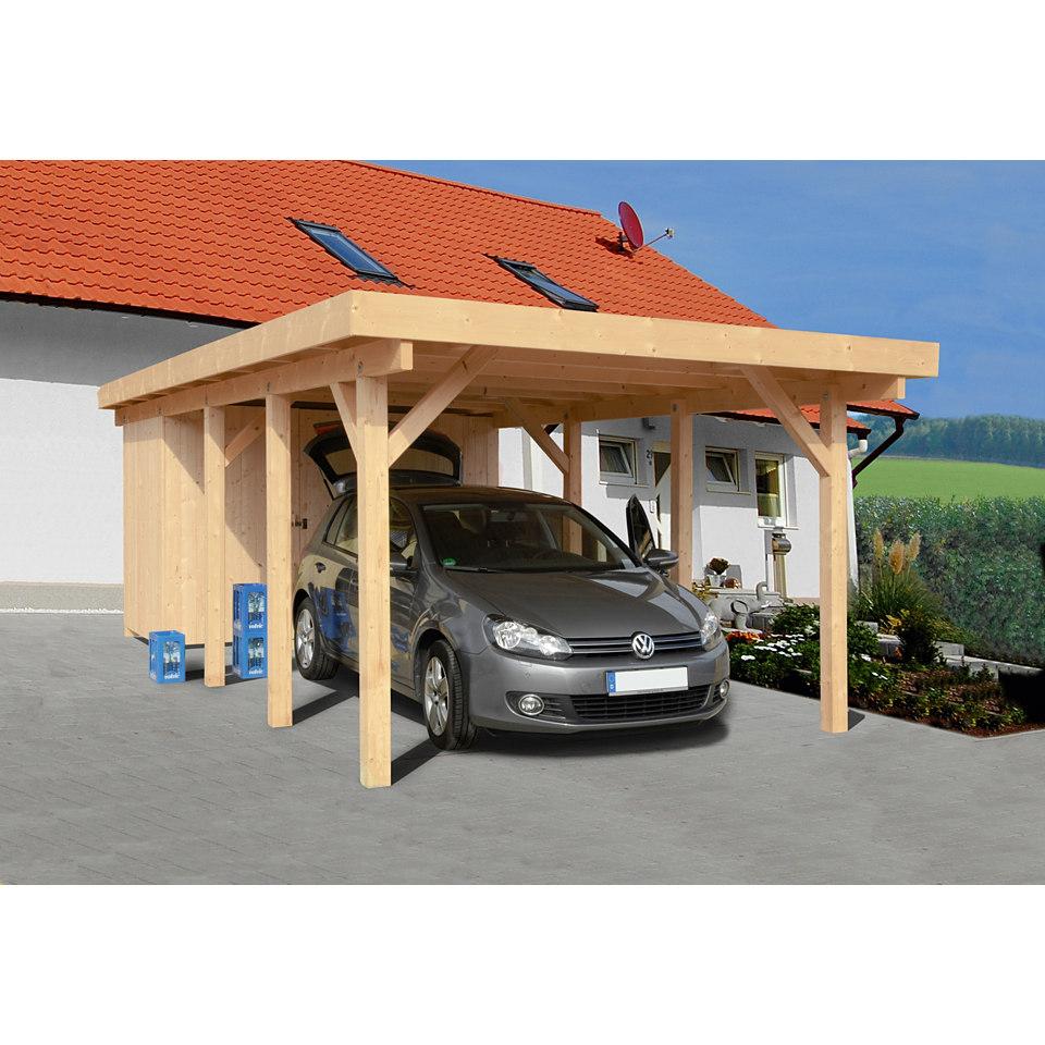 Carport Bilder: Geräteraum Für Carport Rügen 2 Lasiert Grau Kaufen Bei Obi