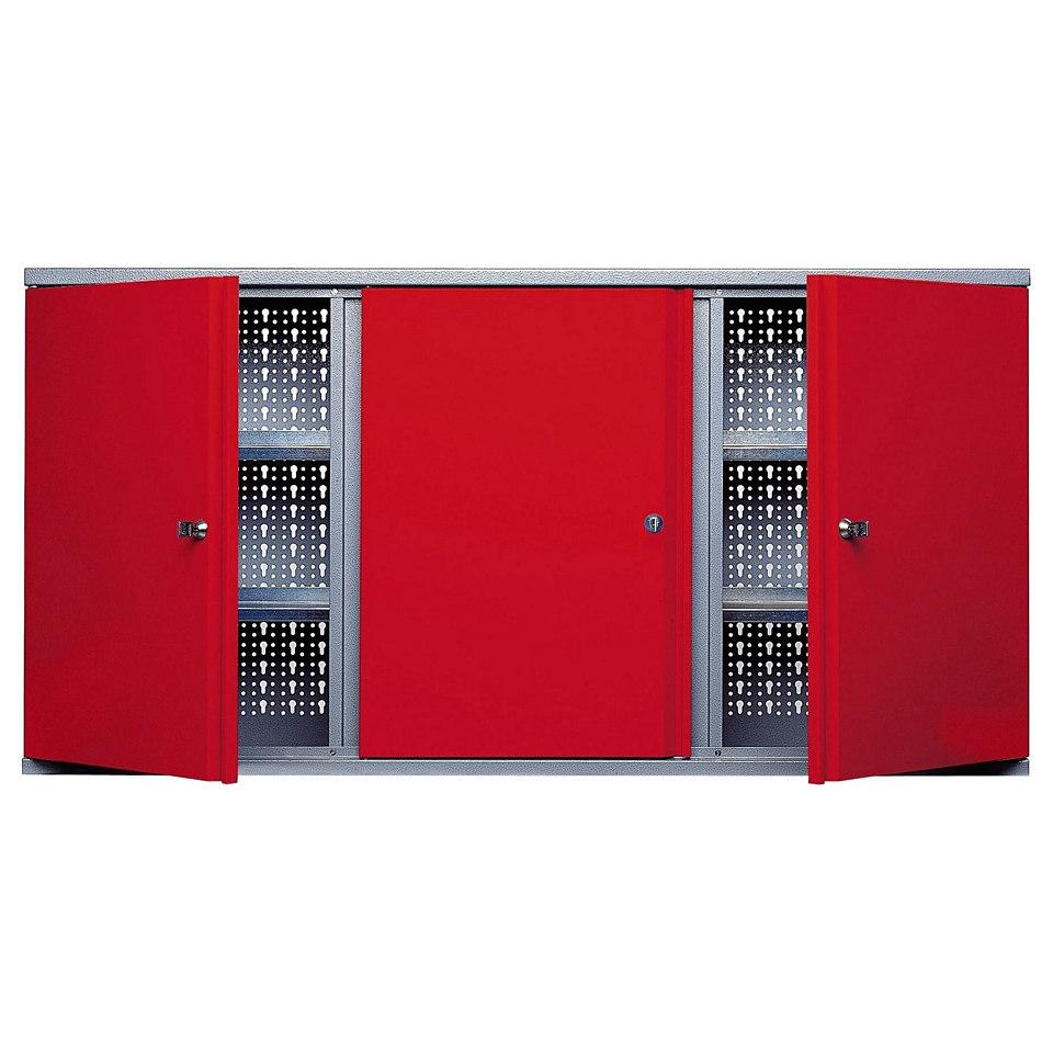 Hängeschrank »3 Türen, 5 Einlegeböden, in rot«
