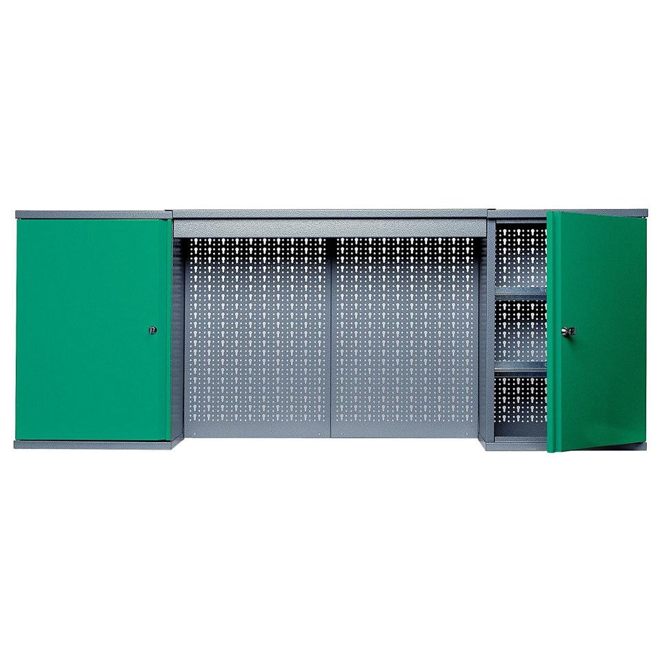Hängeschrank »mit Lichtblende, 2 Türen, 4 Einlegeböden, in grün«