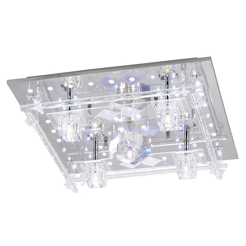 LEUCHTEN DIREKT Halogen-/LED Deckenlampe mit Fernbedienung