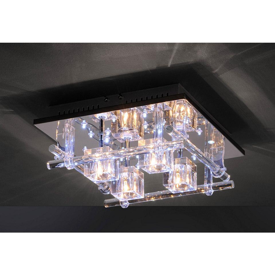 Halogen-LED-Deckenlampe mit Fernbedienung, Leuchten Direkt