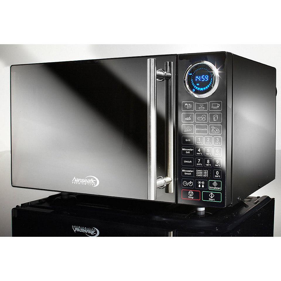 Hanseatic Premium-Line Mikrowelle, 25 Liter Garraum, 900 Watt