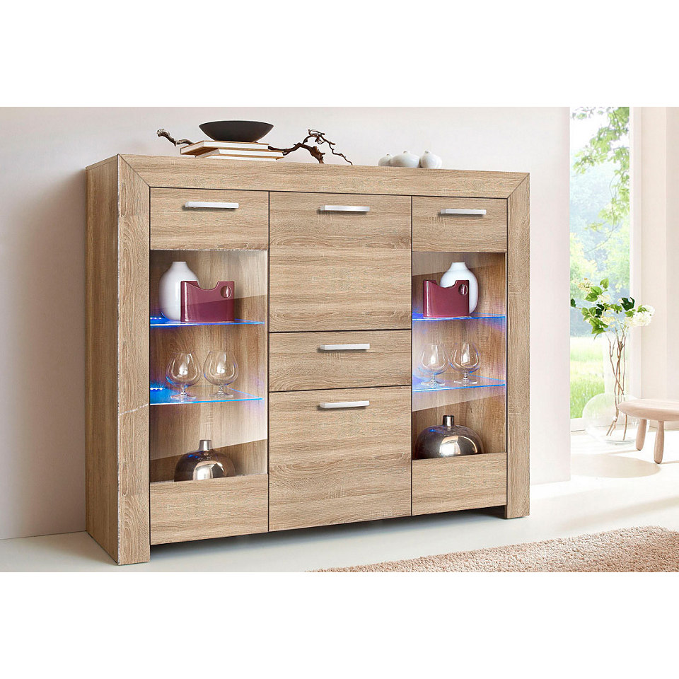 Highboard, H�he 131 cm, wahlweise mit Aufbauservice