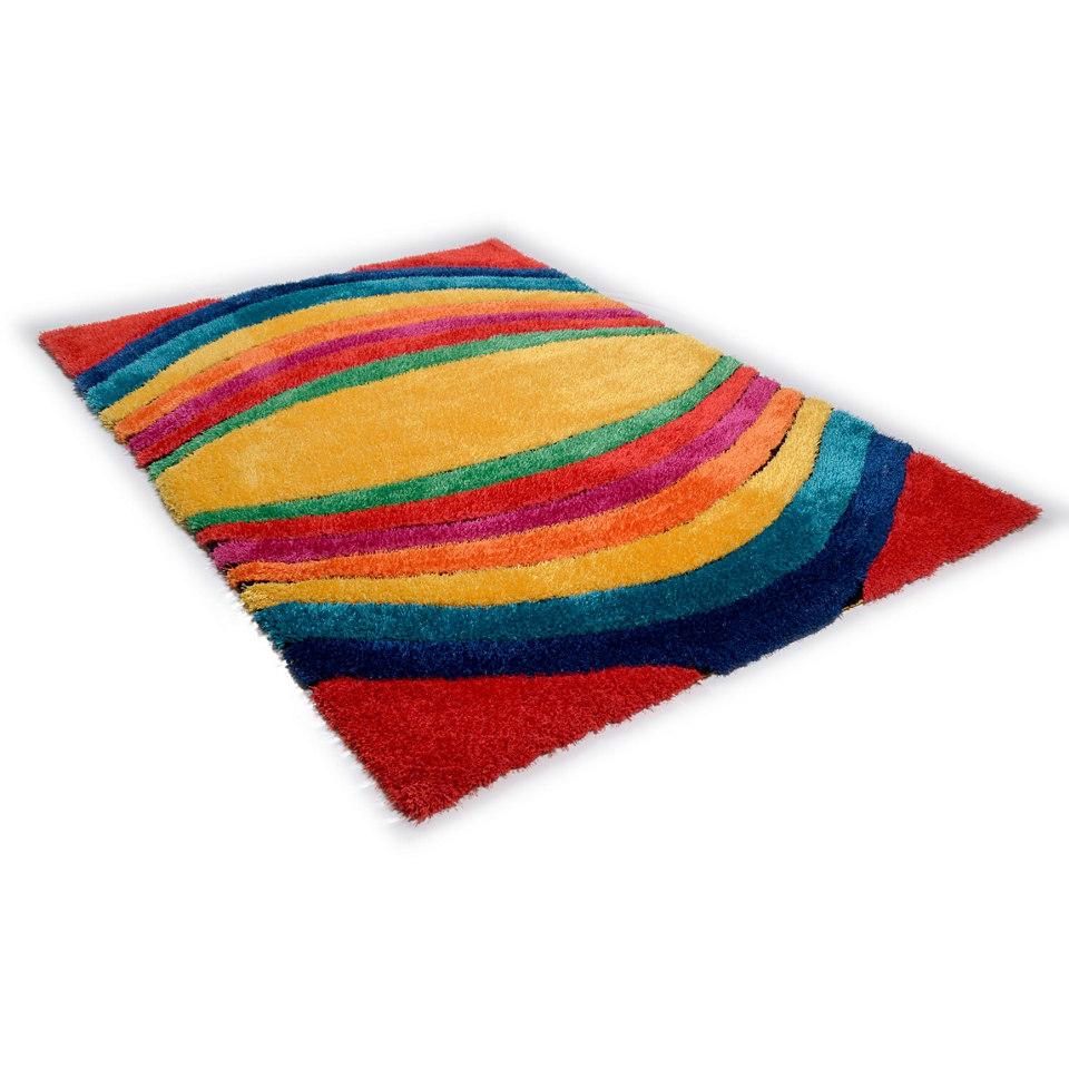Hochflor-Teppich, Tom Tailor, »Soft Funky«, Höhe ca. 40mm, handgetuftet, Hoch-Tief-Effekt