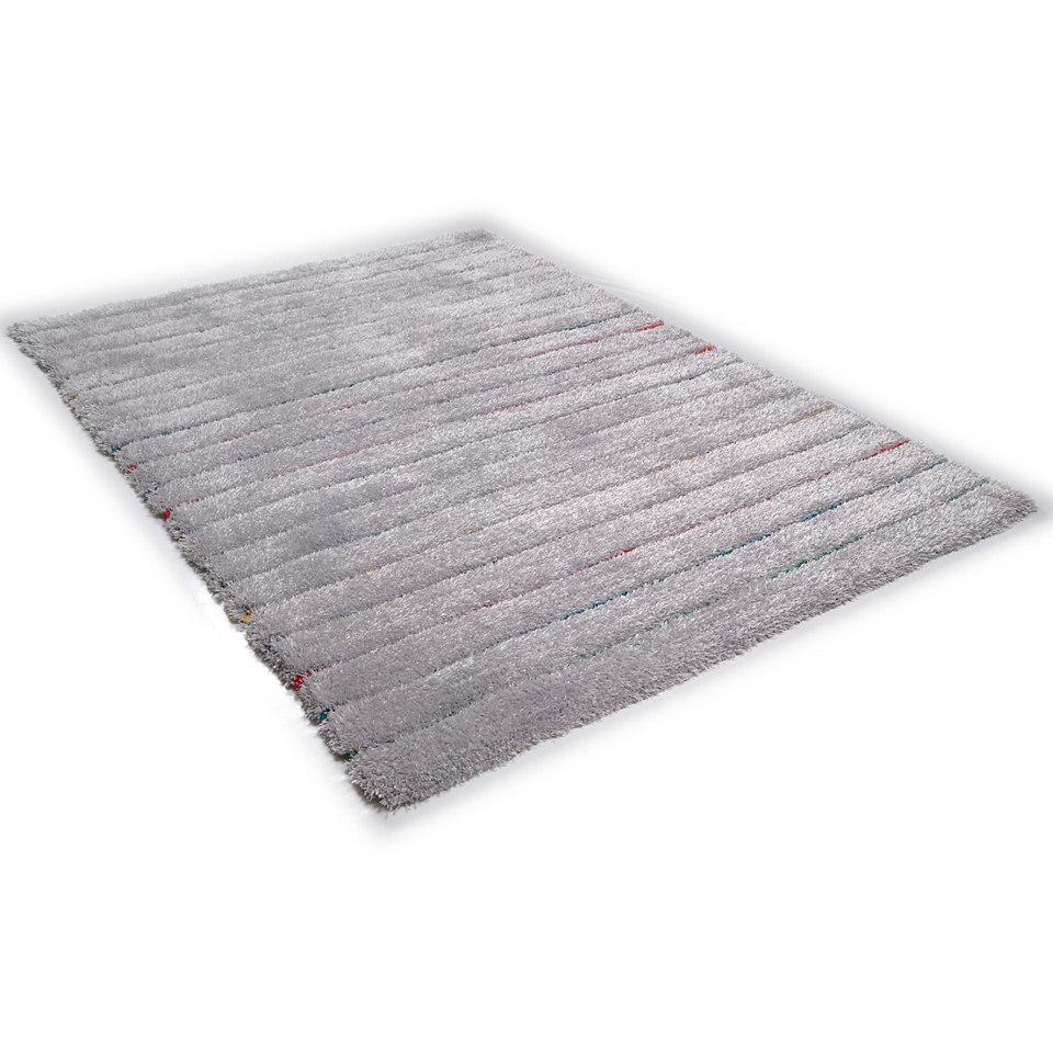 Hochflor-Teppich, Tom Tailor,�Soft Hidden Stripes�, H�he ca. 35mm, handgetuftet, Hoch-Tief-Effekt