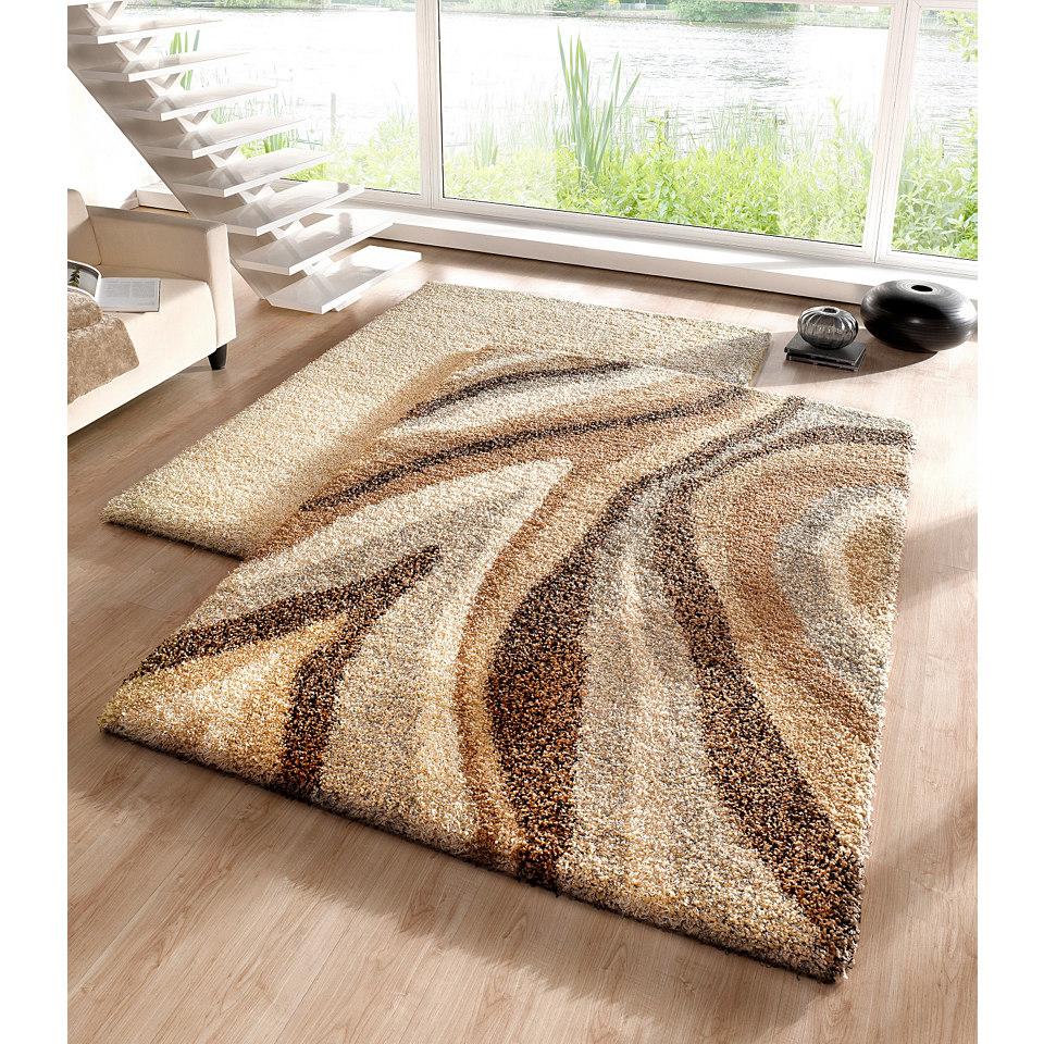 Hochflor-Teppich, my home, �Andria�, Melange-Effekt, H�he 50mm, gewebt