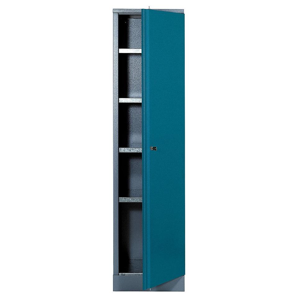 Hochschrank »1 Tür, 4 Einlegeböden, in hammerschlagblau«