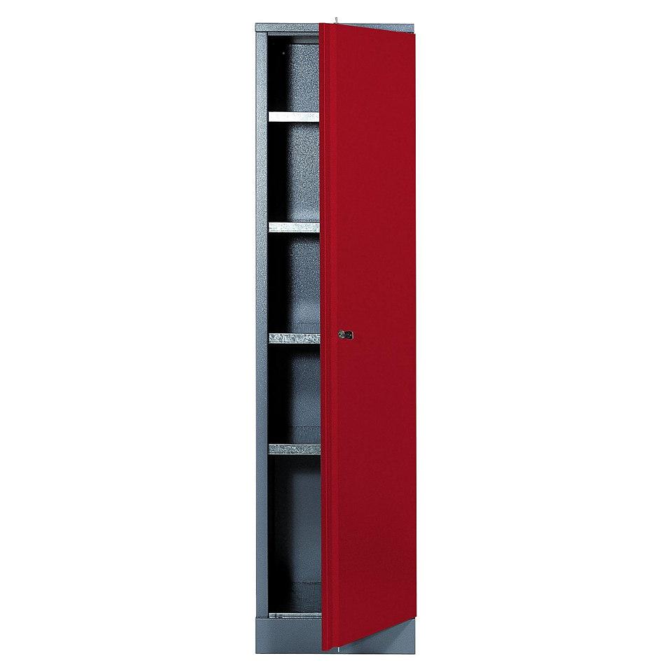Hochschrank »1 Tür, 4 Einlegeböden, in rot«