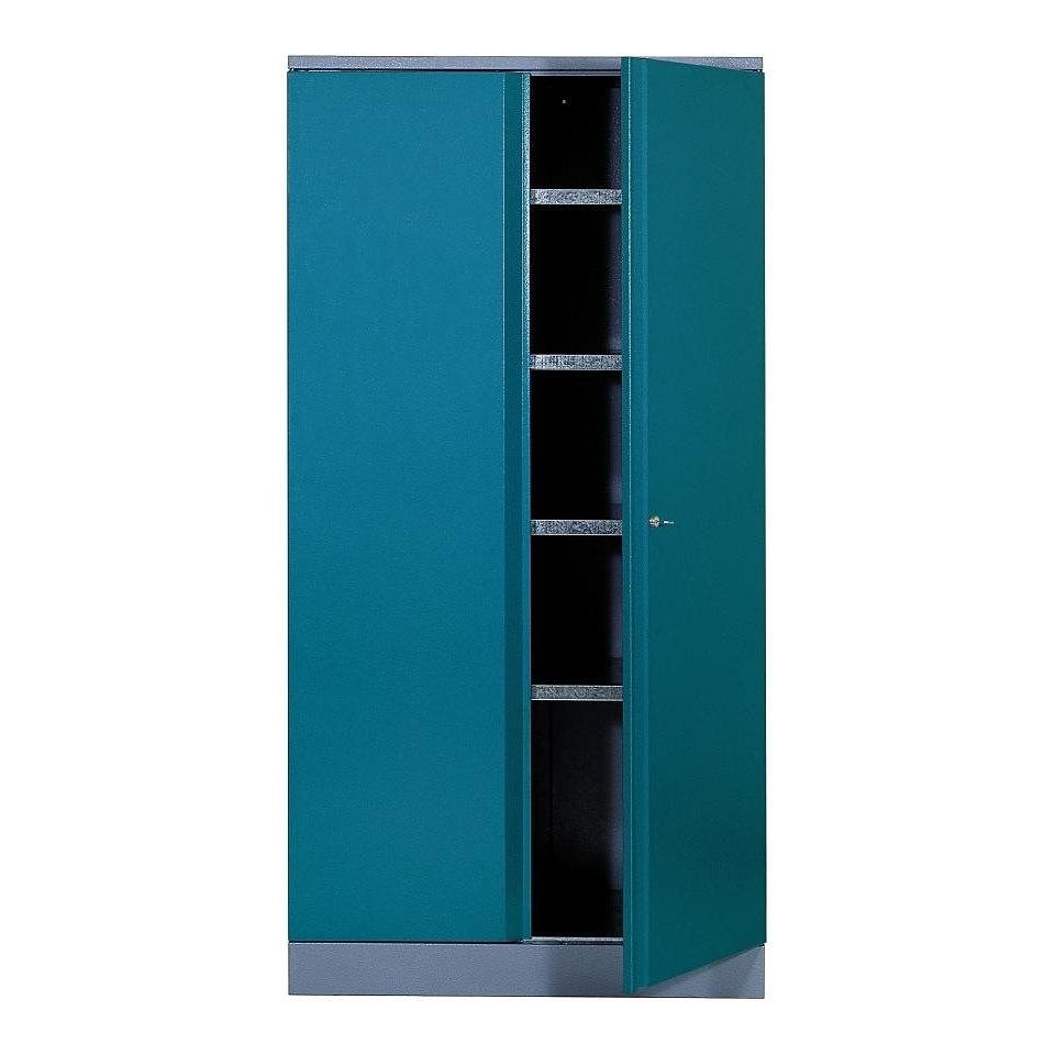 Hochschrank »2 Türen, 4 Einlegeböden, in hammerschlagblau«