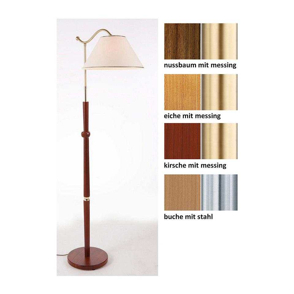 Holz-Stehlampe, 1flg., in 4 Farben, inkl. Leuchtmittel, Laue