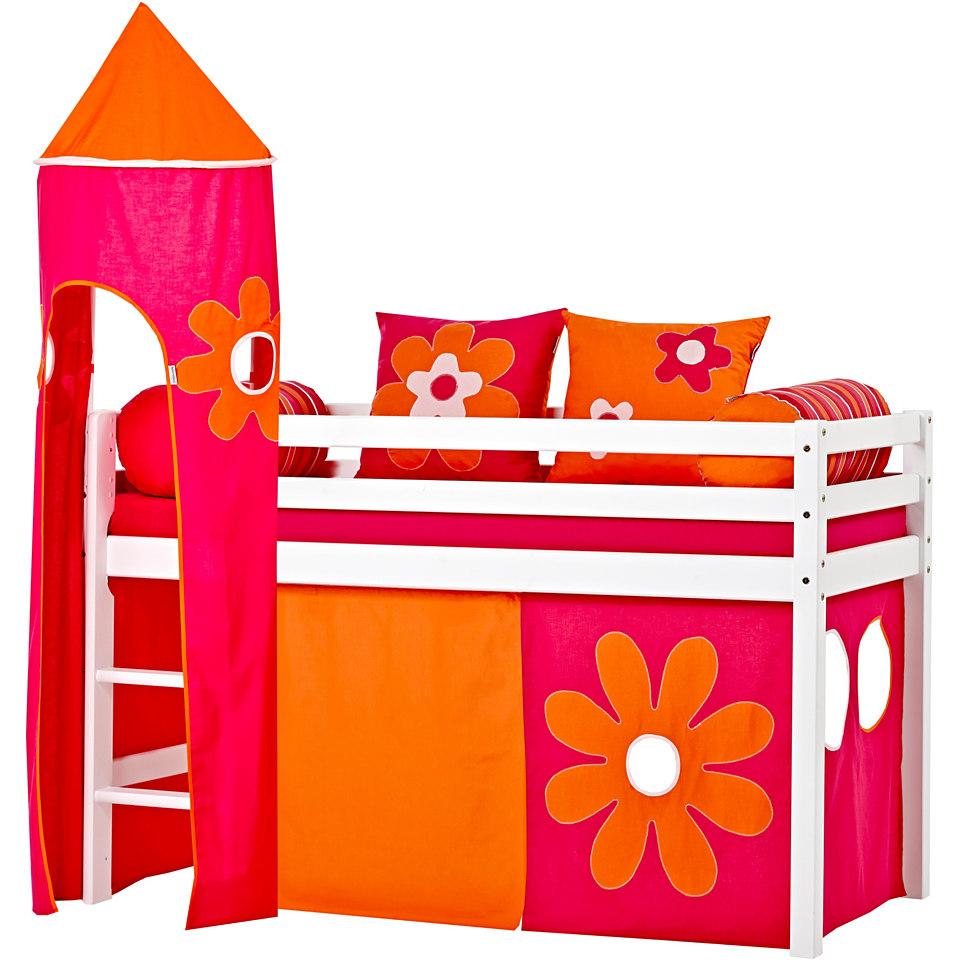Hoppekids Halbhohes Bett »Flowerpower«