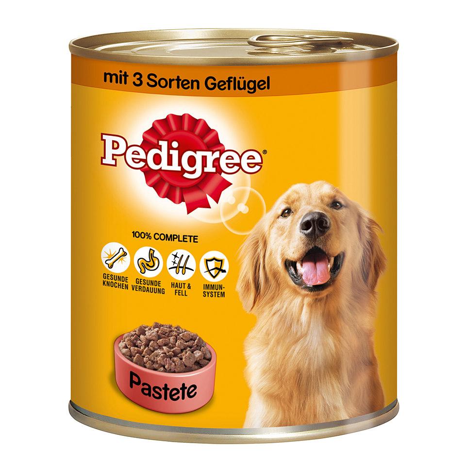 Hundefutter �Pastete 5 Sorten Gefl�gel� (12 oder 24 x 800 g)