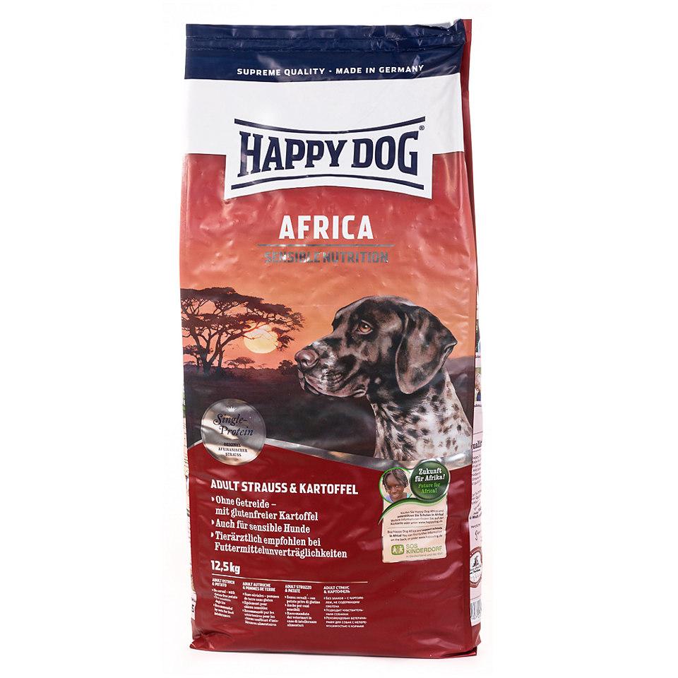 HAPPY DOG Hundefutter »Supreme Sensible Africa mit Strauß und Kartoffel« (1 x 12,5 kg)