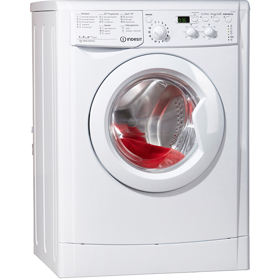 Indesit Waschmaschine IWD 71483B C ECO DE, A+++, 7 kg, 1400 U/Min