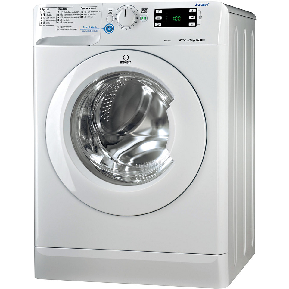 Indesit Waschmaschine XWE 71483X W DE, A+++, 7 kg, 1400 U/Min