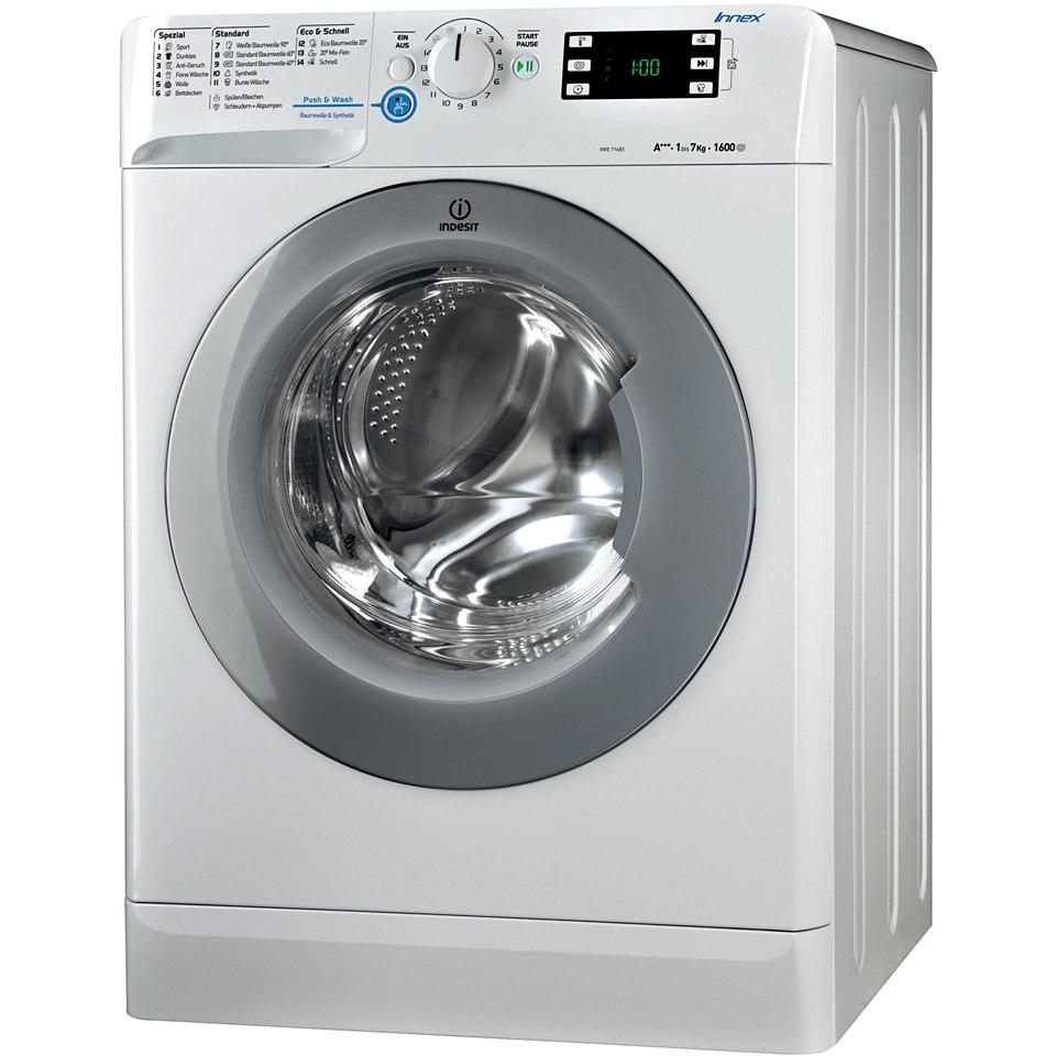 Indesit Waschmaschine XWE 71683X W DE, A+++, 7 kg, 1600 U/Min