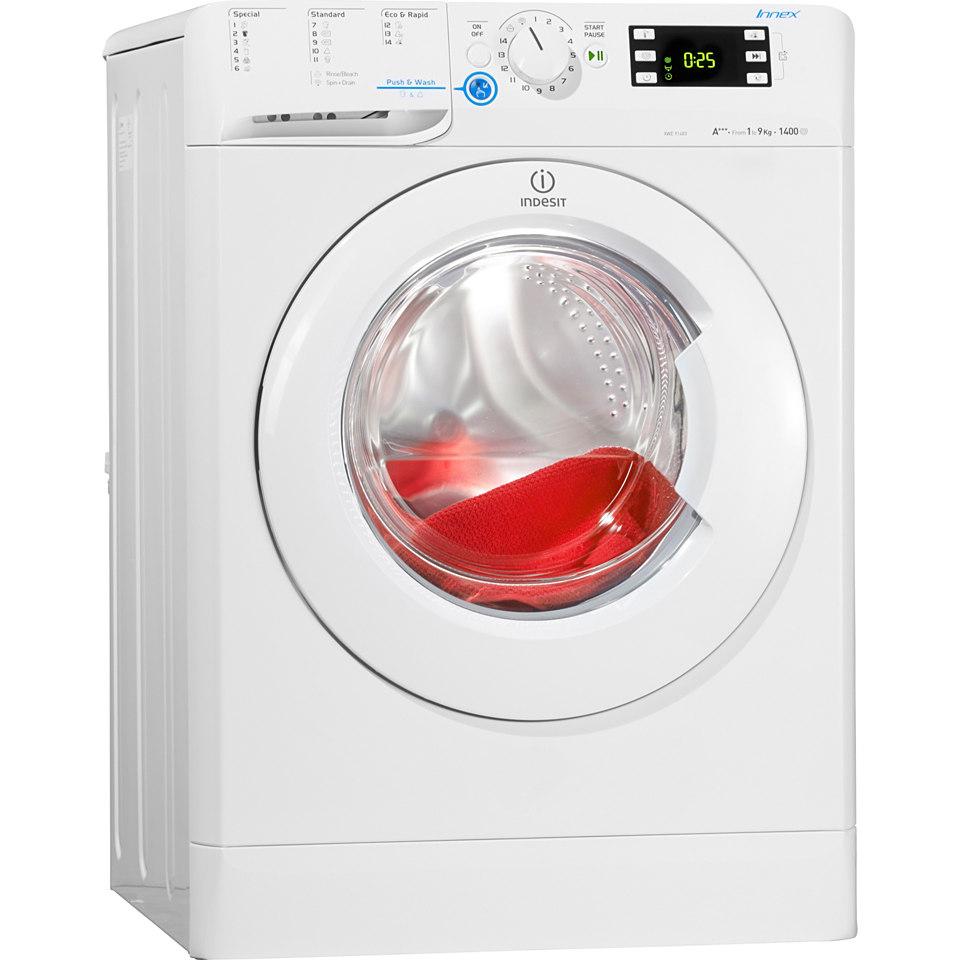 Indesit Waschmaschine XWE 91483X W EU, A+++, 9 kg, 1400 U/Min