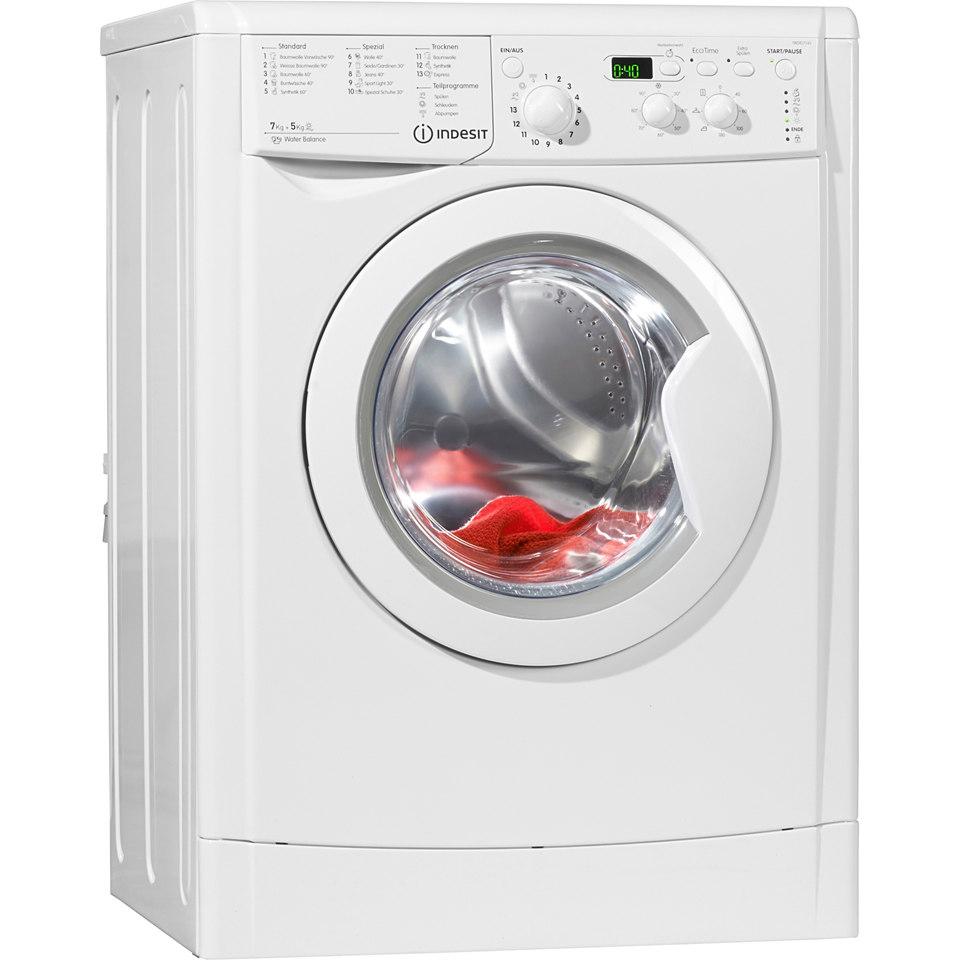 Indesit Waschtrockner IWDD7145B, B, 7 kg / 5 kg, 1400 U/Min