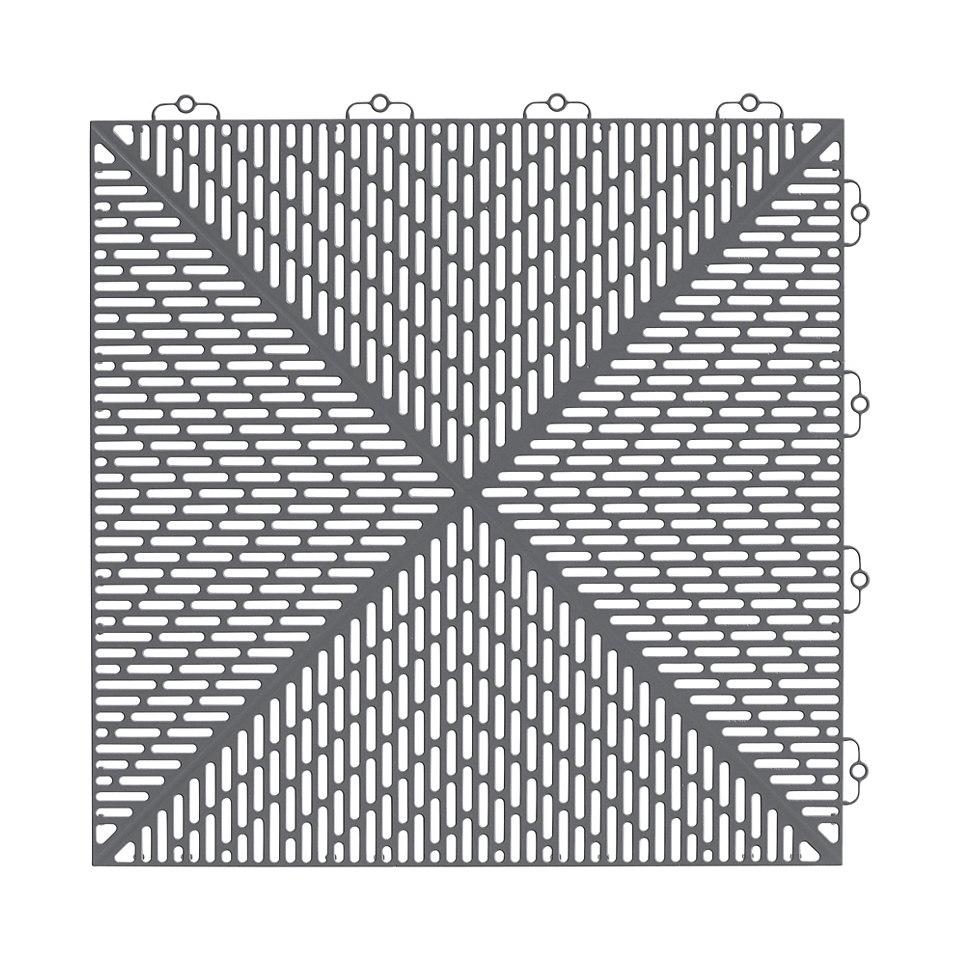 Kantenleiste für Bodenplatten, grau