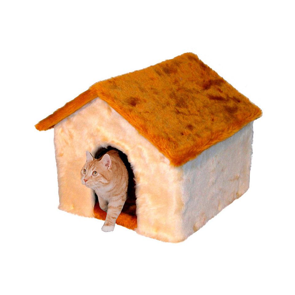 Katzenhaus / Katzenbett mit Pl�schdach