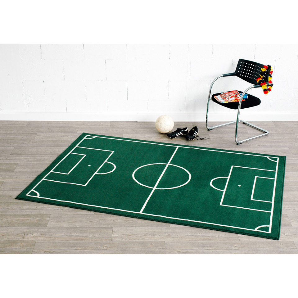 Kinder-Teppich, Hanse Home, �Fussballplatz�, gewebt