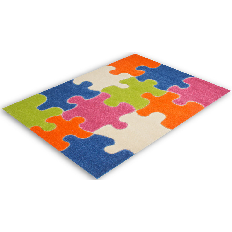 Kinder-Teppich, Lalee, »Amigo 306«, gewebt, handgearbeiteter Konturenschnitt