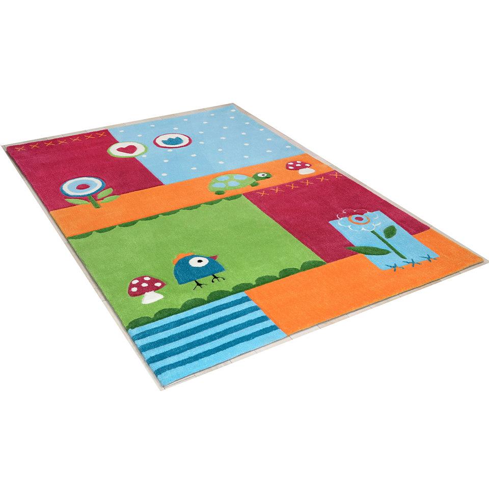 Kinder-Teppich �Leben im Garten�, handgearbeitet, Theko