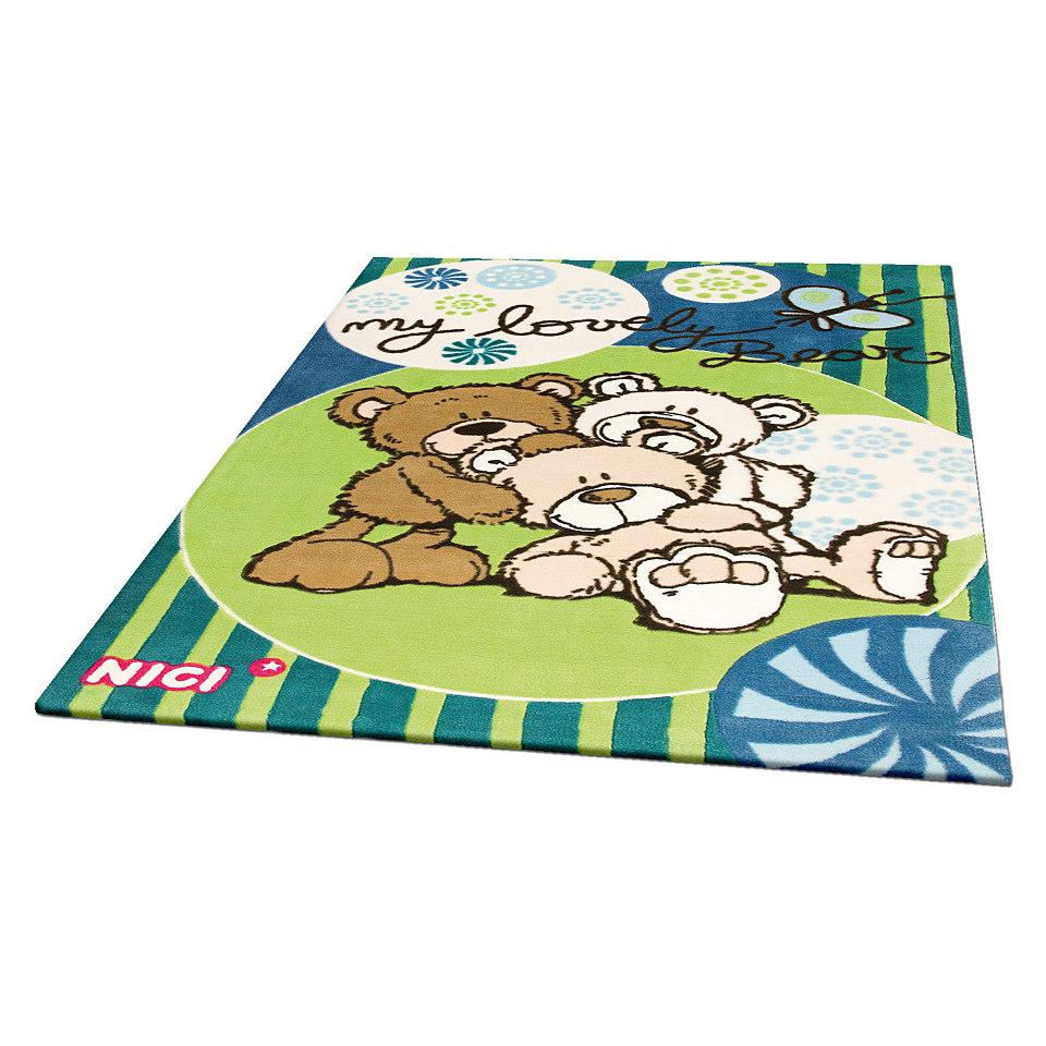 Kinder-Teppich, NICI, »Lovely Bear«, getuftet, handgearbeiteter Konturenschnitt