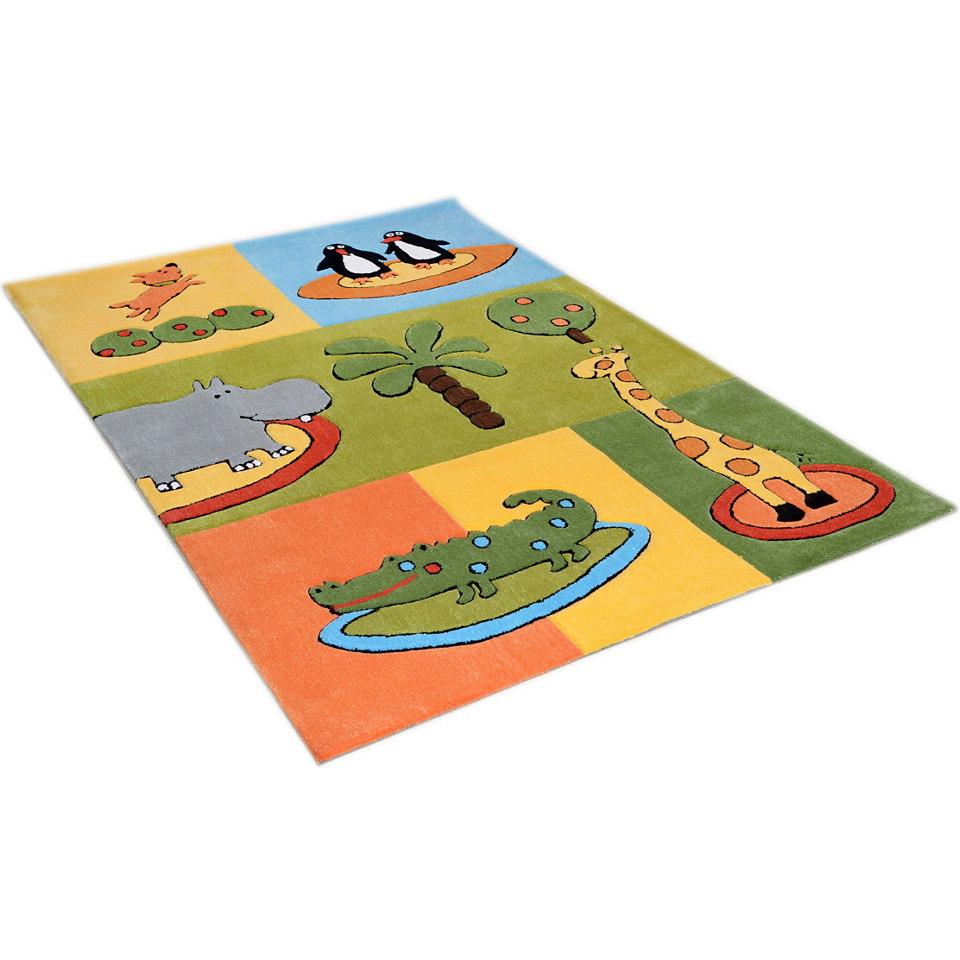 Kinder-Teppich, �Pinguine in Afrika�, Theko, handgearbeitet