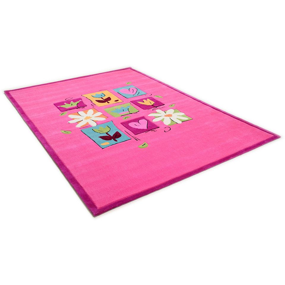 Kinder-Teppich, Theko, »Wunderland«, handgetuftet, handgearbeiteter Konturenschnitt