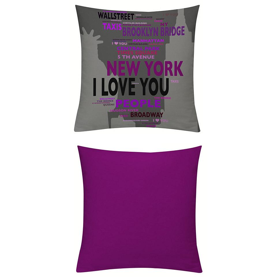 Kissenhüllen, Emotiontextiles, »New York Blau-Beere«