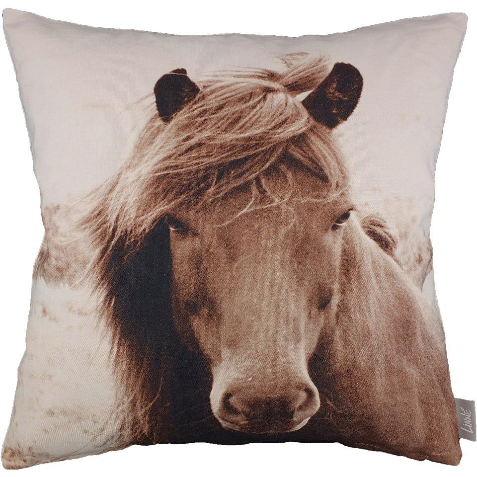 Kissenhüllen, Linne, »Pferd« (1 Stck.)
