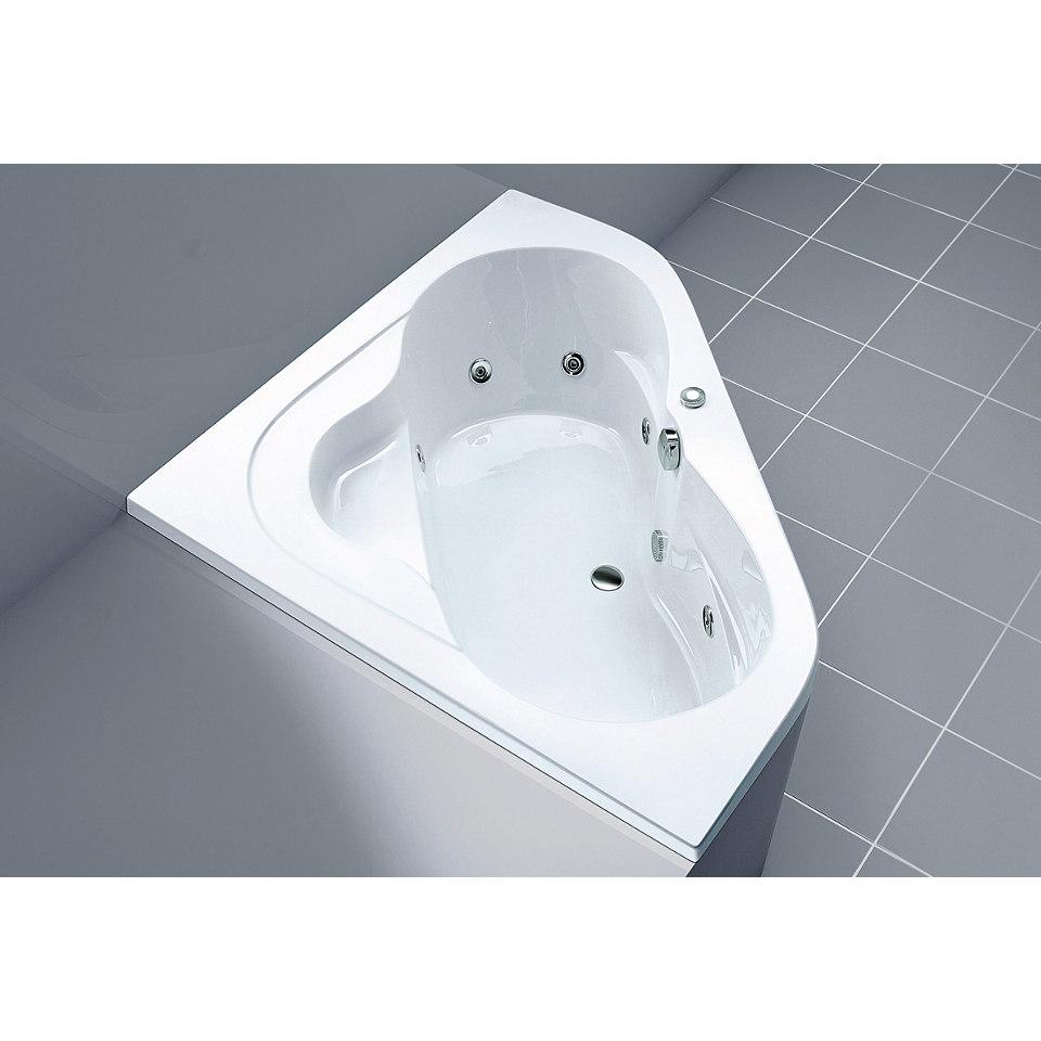 Komplett-Set: Komfort-Eckwanne, mit Whirlpool-Technik