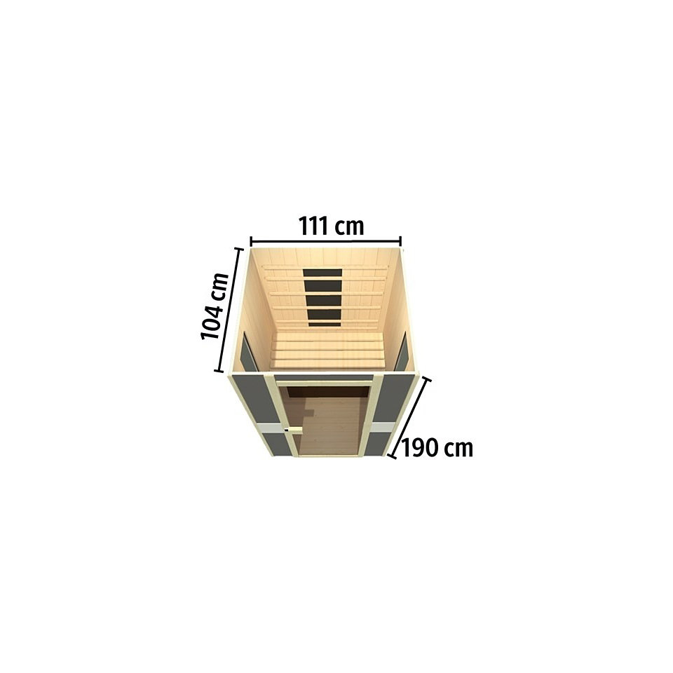 Komplettset Wärmekabine »SportsLine 1« (Fronteinstieg), 60 mm Wandstärke