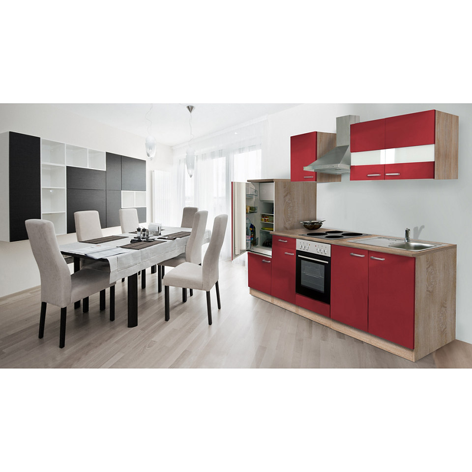 Küchenleerblock »Respekta Economy«, Breite 280 cm, Sägerau Dekor, Set 2